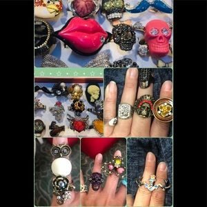 Lot of 80+ fashion rings